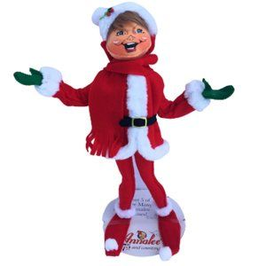 NWT Annalee Retired 14in Very Merry Christmas Red Elf